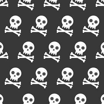 Caveira e ossos cruzados