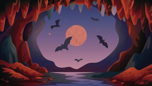 Caverna com morcegos