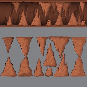 Caverna de vetor sem costura dos desenhos animados