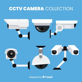 Cctv camera collection com design plano