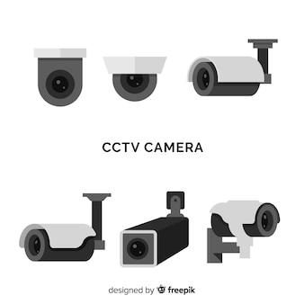 Cctv camera collection com design plano