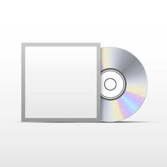 Cd ou disco compacto de dvd com modelo de capa preta