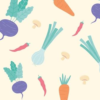 Cebola cenoura beterraba cogumelo alimentos frescos legumes fundo