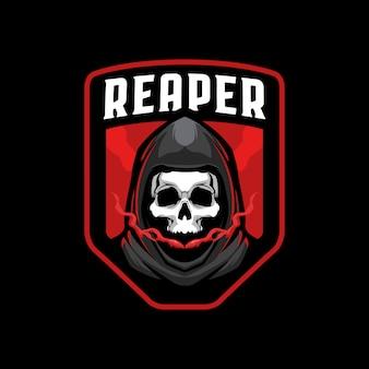 Ceifador crânio mascote logotipo