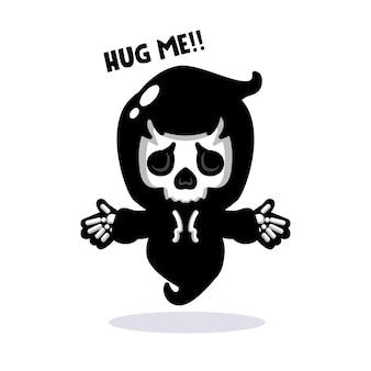 Ceifador de desenho animado quer abraçar