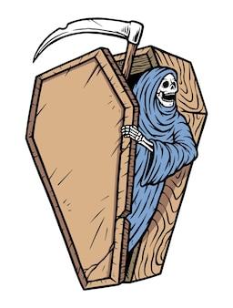 Ceifador sai do caixão