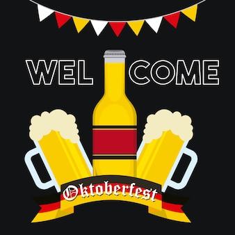 Celebração alemã da oktoberfest