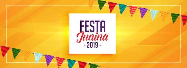 Celebração amarela junina de festa abstrata