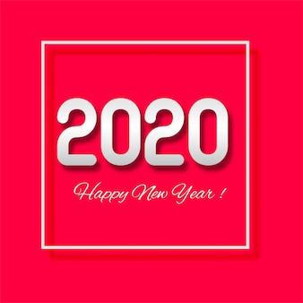 Celebração ano novo 2020 cartão com texto criativo