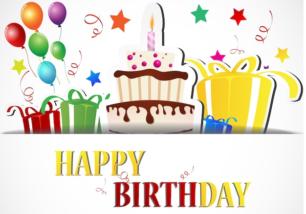 Celebração cartão de aniversário