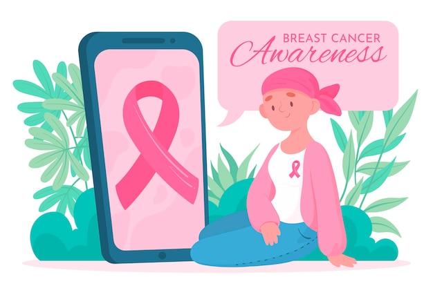 Celebração da conscientização do câncer de mama