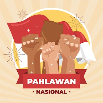 Celebração da ilustração de pahlawan