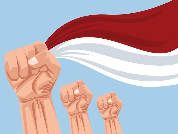 Celebração da merdeka na indonésia