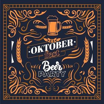 Celebração da oktoberfest de design vintage