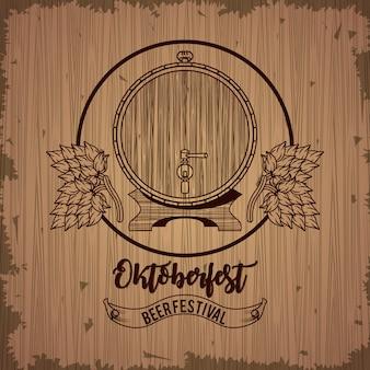Celebração da oktoberfest, design do festival de cerveja