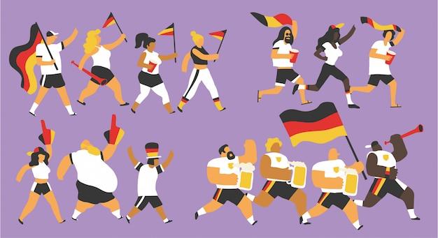 Celebração da seleção nacional da alemanha
