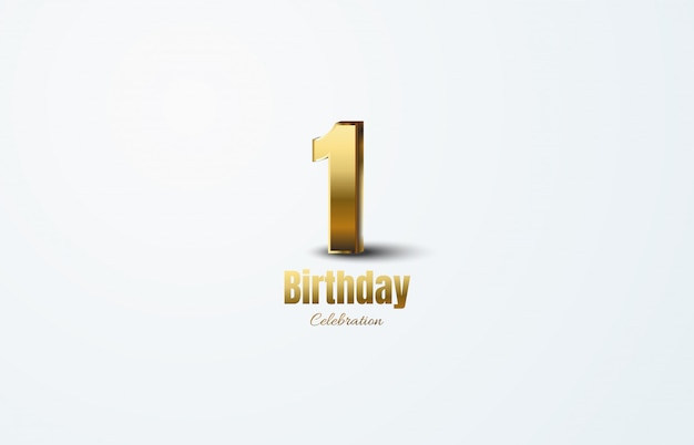 Celebração de aniversário com números de ouro.