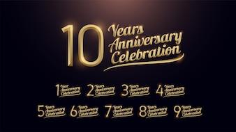 Celebração de aniversário de 10 anos