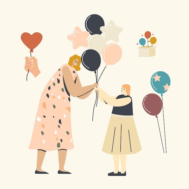 Celebração de aniversário, ilustração da infância