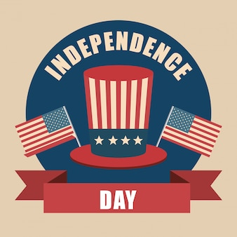 Celebração de dia da independência eua