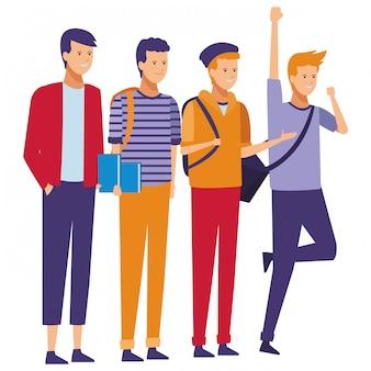 Celebração de estudantes de rapazes