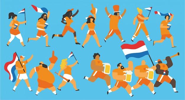 Celebração de fãs holandeses holandeses