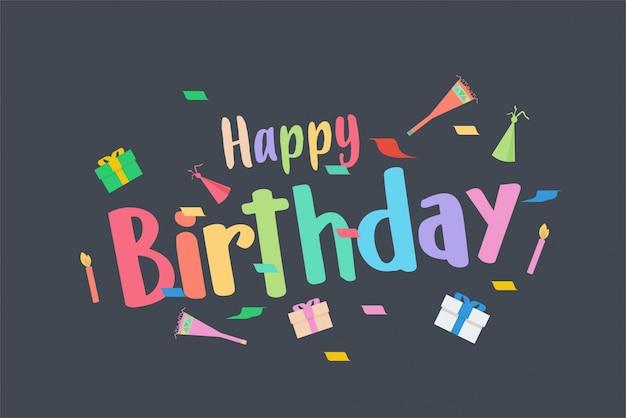 Celebração de feliz aniversário com você