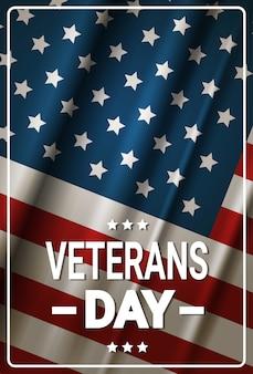 Celebração de feriado do dia dos veteranos banner de feriado americano do norte sobre ...