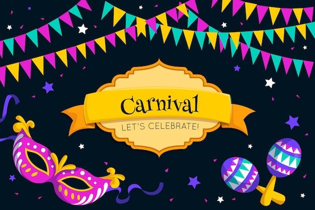 Celebração de festa de carnaval de design plano