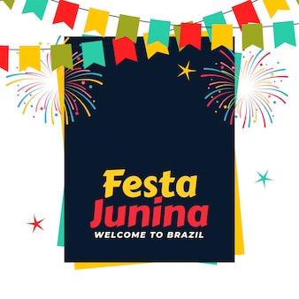 Celebração de festa junina brasileira
