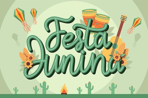 Celebração de festa junina design plano