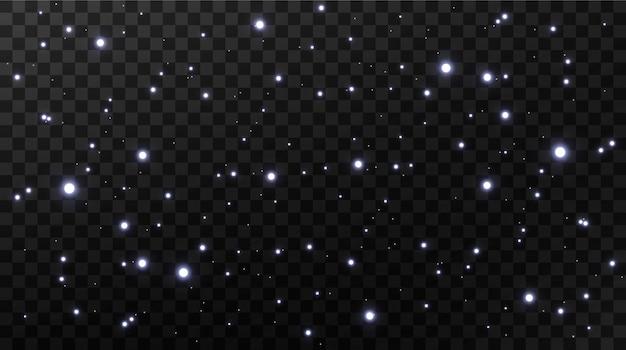 Celebração de fundo abstrato de pequenas partículas de poeira cintilante e estrelas