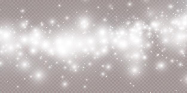 Celebração de fundo abstrato de pequenas partículas de poeira cintilantes e estrelas.