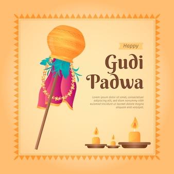 Celebração de gudi padwa design plano