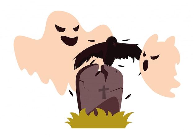 Celebração de halloween feliz fantasmas