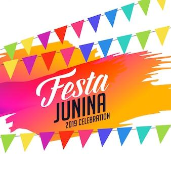 Celebração de junina de festa colorida