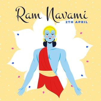 Celebração de mão desenhada ram navami