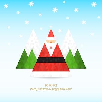 Celebração de natal de papai noel triangular