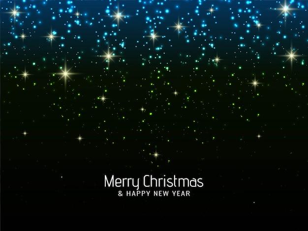 Celebração de natal feliz brilha fundo