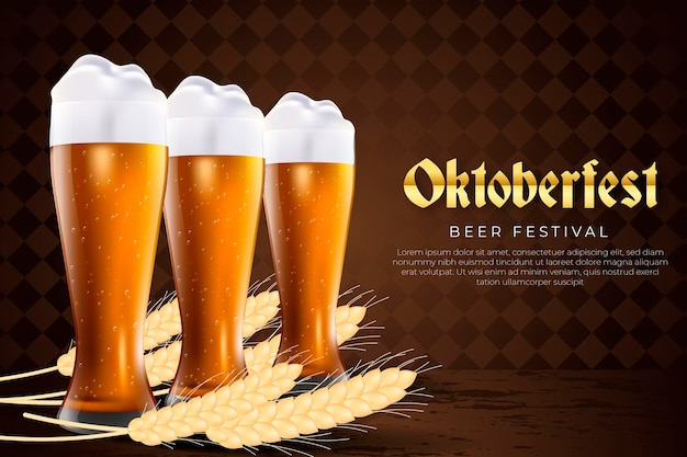 Celebração de oktoberfest estilo realista