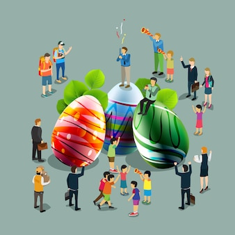 Celebração de ovos de páscoa