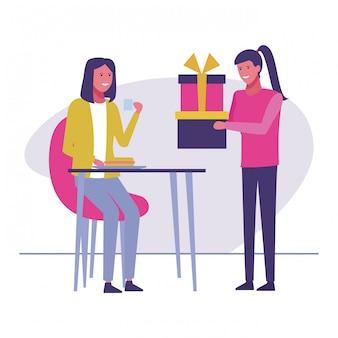 Celebração de presentes de aniversário de mulheres