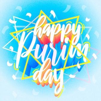 Celebração de purim feliz design plano