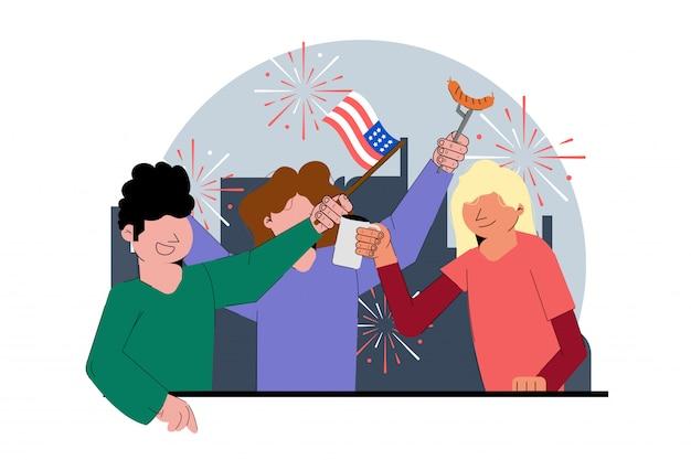 Celebração de quatro de julho