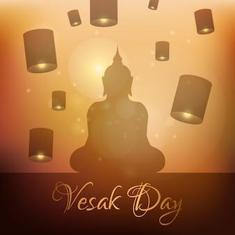 Celebração de vesak de estilo simples