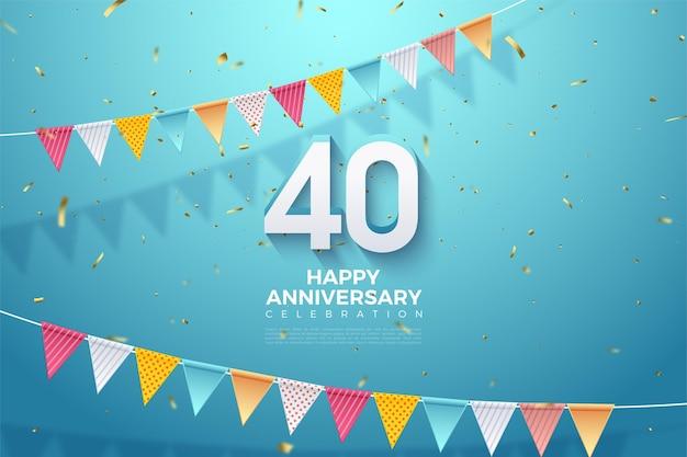 Celebração do 40º aniversário.