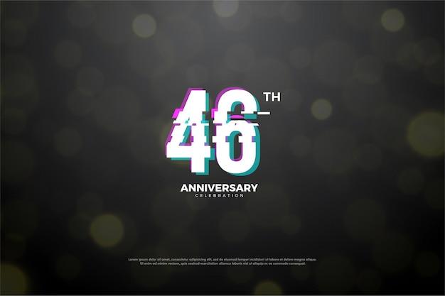 Celebração do 46º aniversário com números da paz