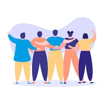 Celebração do dia da amizade com os jovens
