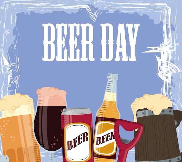 Celebração do dia da cerveja