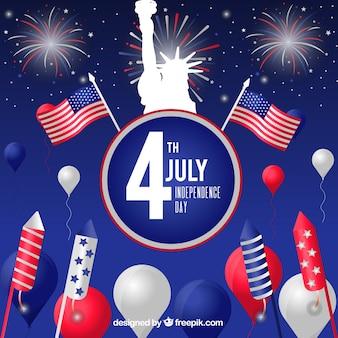 Celebração do dia da independência americana